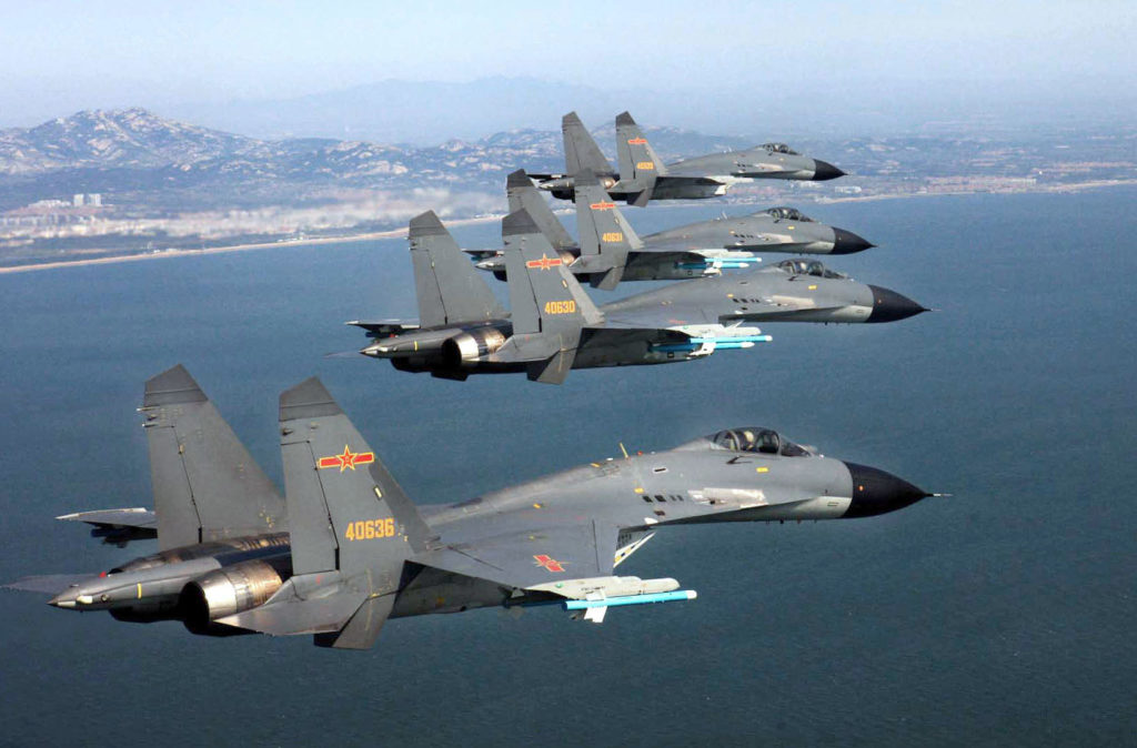 Chinese J-11B Fighter Jets Landed On Contested Island In South China Sea