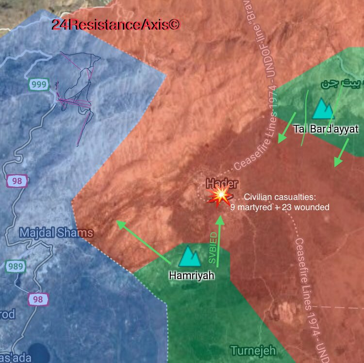 Syrian Forces Repel Large Al-Qaeda Attack In Hadar Town Near Frontline With Israel