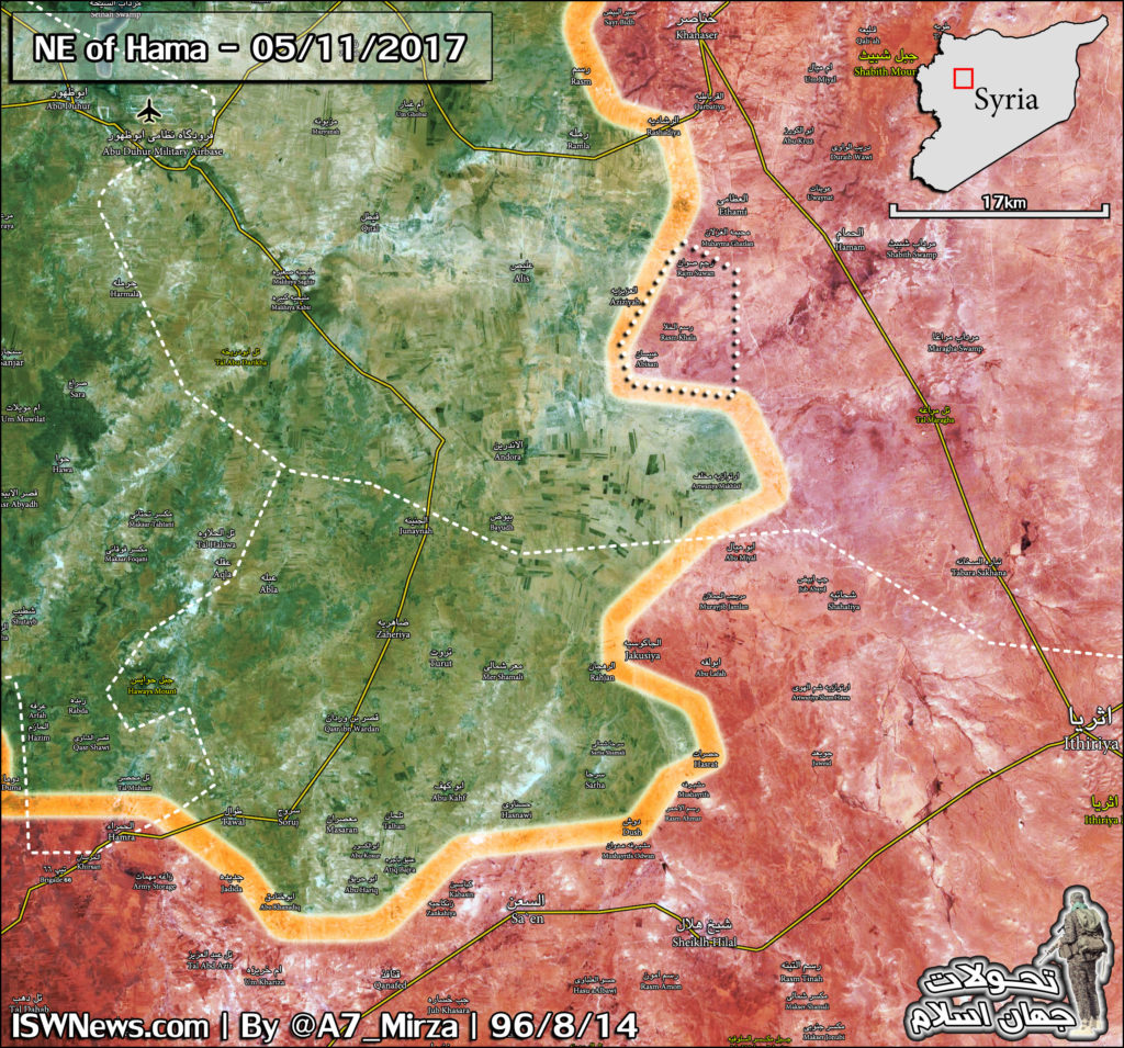 Syria Map Update: Military Situation In Northeastern Hama