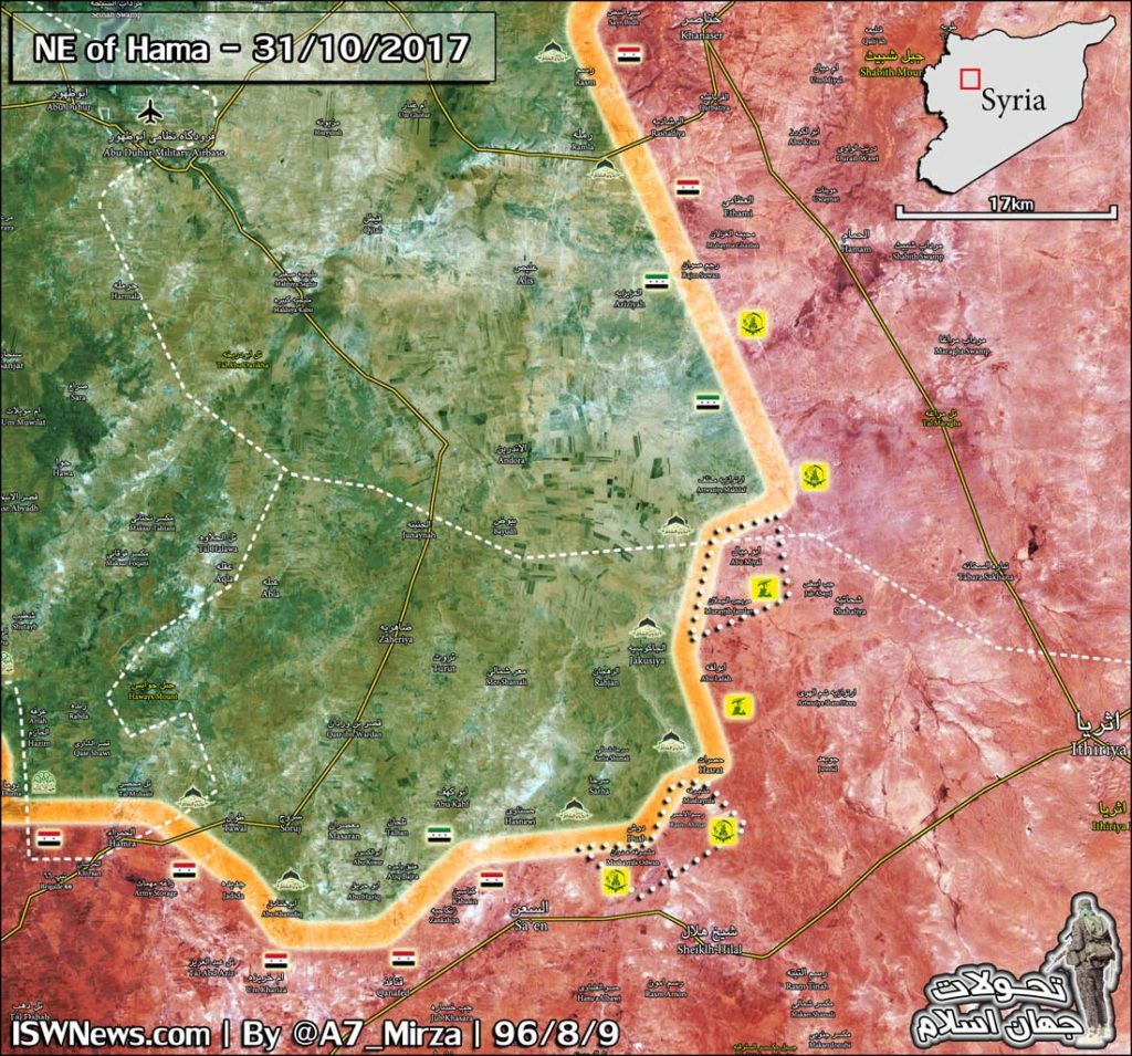 Map Update: Government Forces Liberated Large Area From Terrorists In Northern Hama