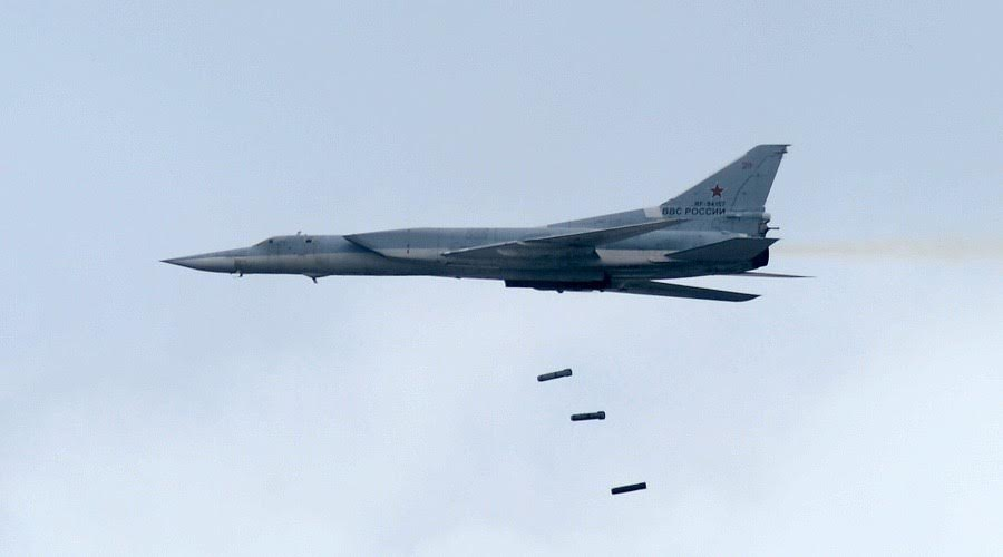 Six Russian Tu-22M3 Strategic Bombers Carried Out Massive Strike On ISIS Near Syria's Al-Bukamal