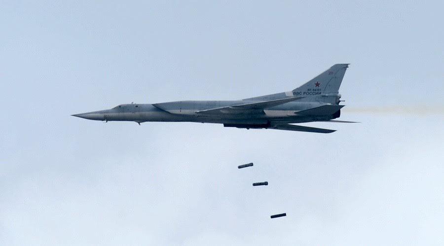 Six Russian Tu-22M3 Strategic Bombers Carried Out Massive Strike On ISIS Near Syria's Al-Bukamal