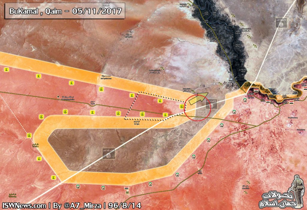 Syrian And Iraqi Forces Meet South Of Al-Bukamal After Repelling ISIS Attack In Area