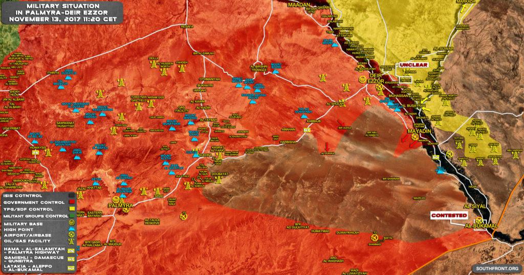 シリア陸軍、イスキア南部のメジャーディン南部での操業を再開