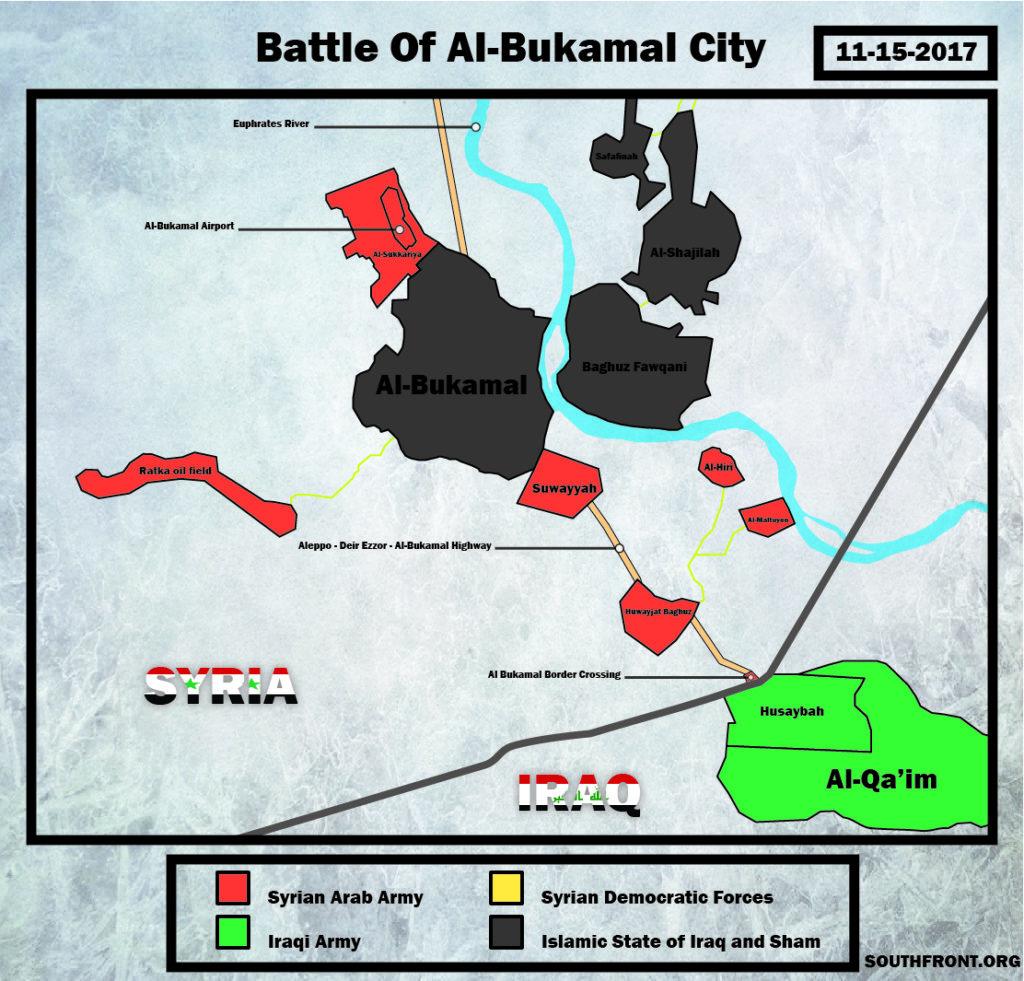 Pro-Government Forces Tihghten Grip On Al-Bukamal, Enter It Again (Map, Videos, Photos)