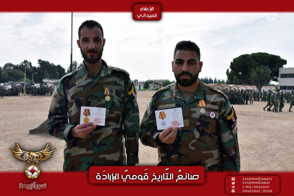 Photos: SSNP Military Wing Members Receive Russian Medals For Participating In Ongoing Anti-Terrorist Campaign In Syria