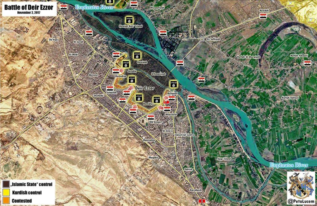 ISISはDeir Ezzor City(地図)で幽霊を放棄しようとしています