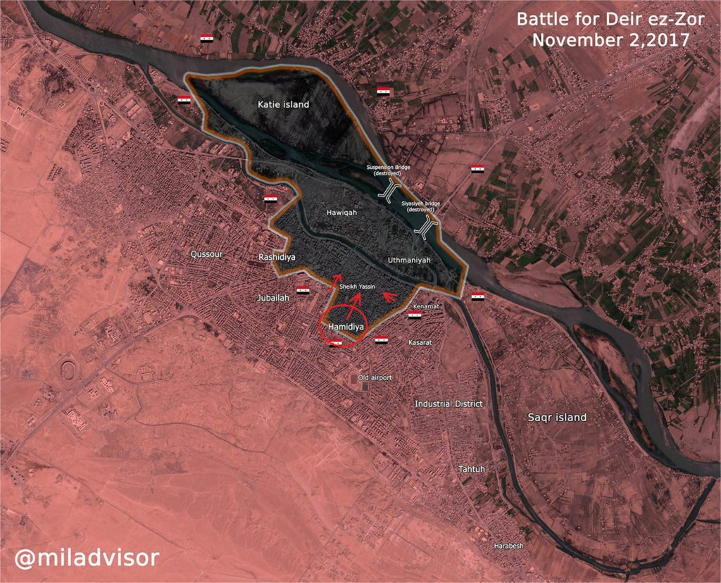 Syrian Forces Liberated Al-Hamidiyah Neighborhood From ISIS In Deir Ezzor City (Map)