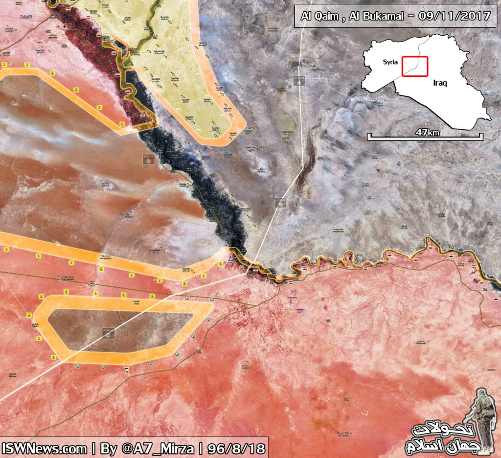 Map Update: Military Situation In Syrian-Iraqi Border Area After Liberation Of Al-Bukamal And Al-Qaim