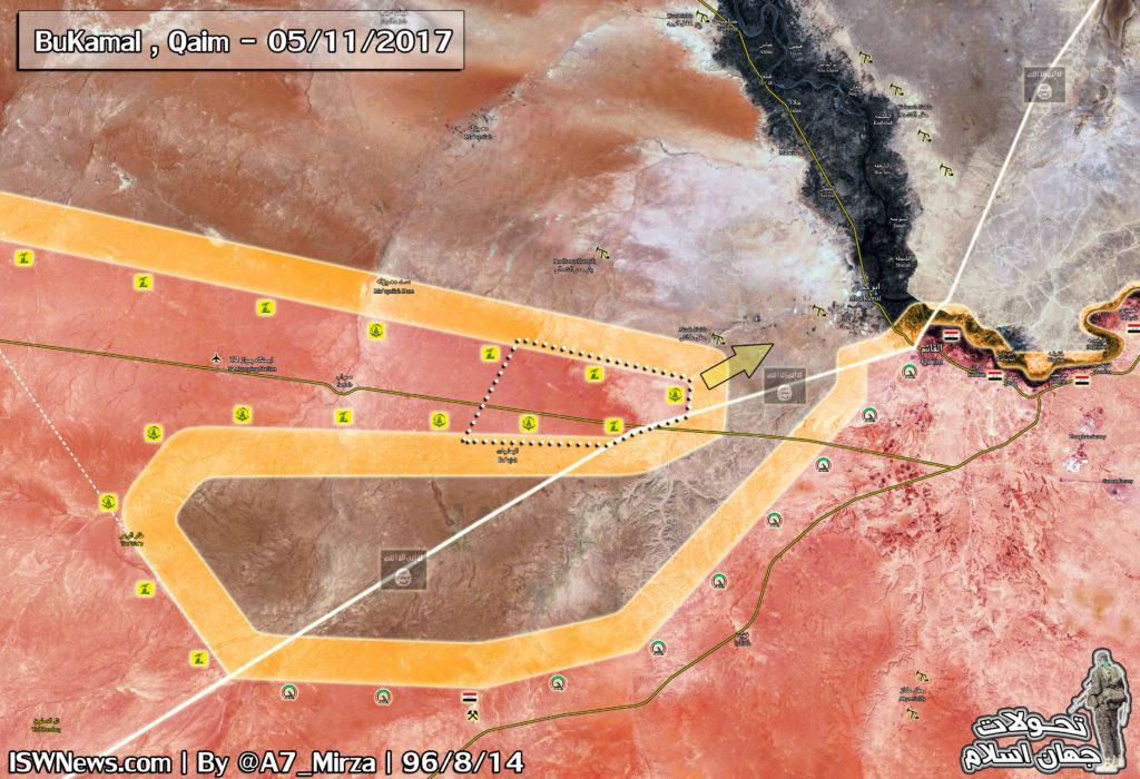 Syrian Army, Hezbollah Reach Iraqi Border Near Al-Bukamal (Map)