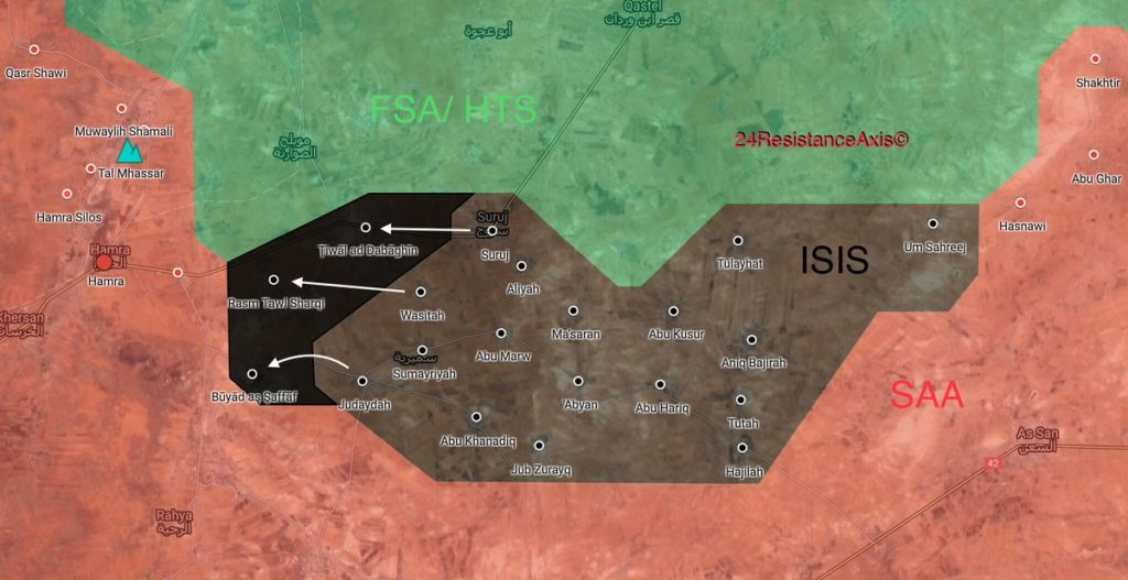 ISIS Captures More Villages From Hayat Tahrir al-Sham In Northeastern (Maps)