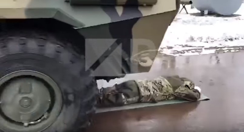 Video: Future Russian Top Officials Were Tested Under APCs