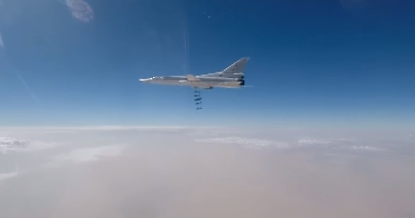 Russian Strategic Bombers Pound ISIS Targets Near al-Bukamal