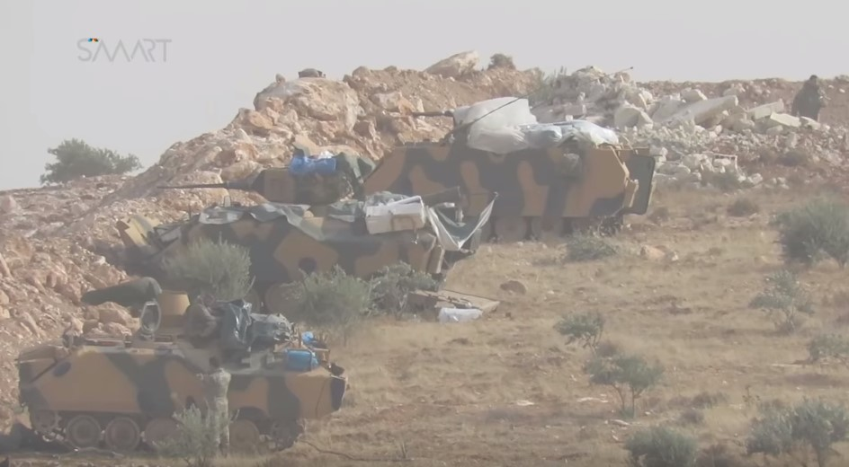 Video: Turkish Forces Shelling Kurdish YPG Positions In Western Aleppo