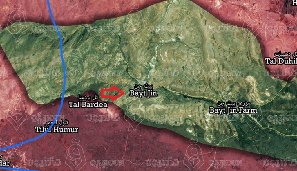 4th Armoured Division Enters Strategic Hills In Bayat Jin Pocket Near Golan Heights