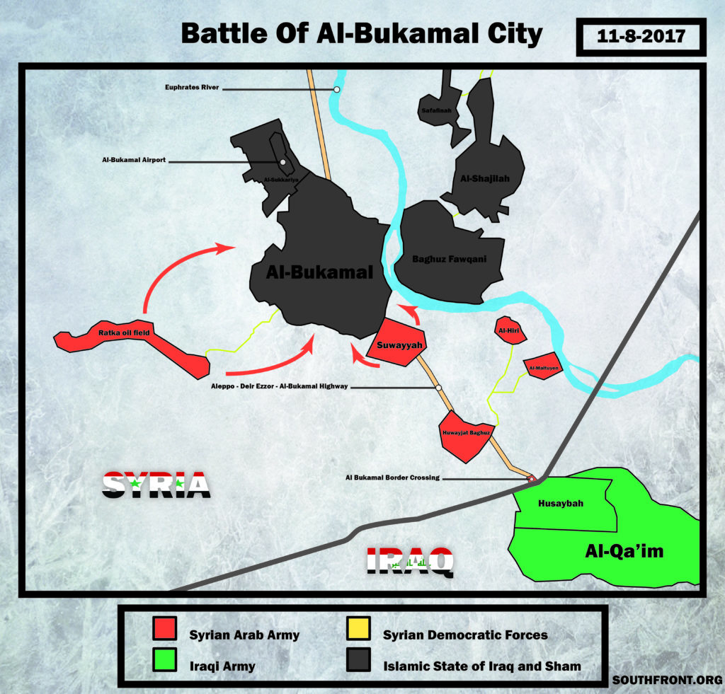 Map Update: Military Situation In Area Of Syria's Al-Bukamal