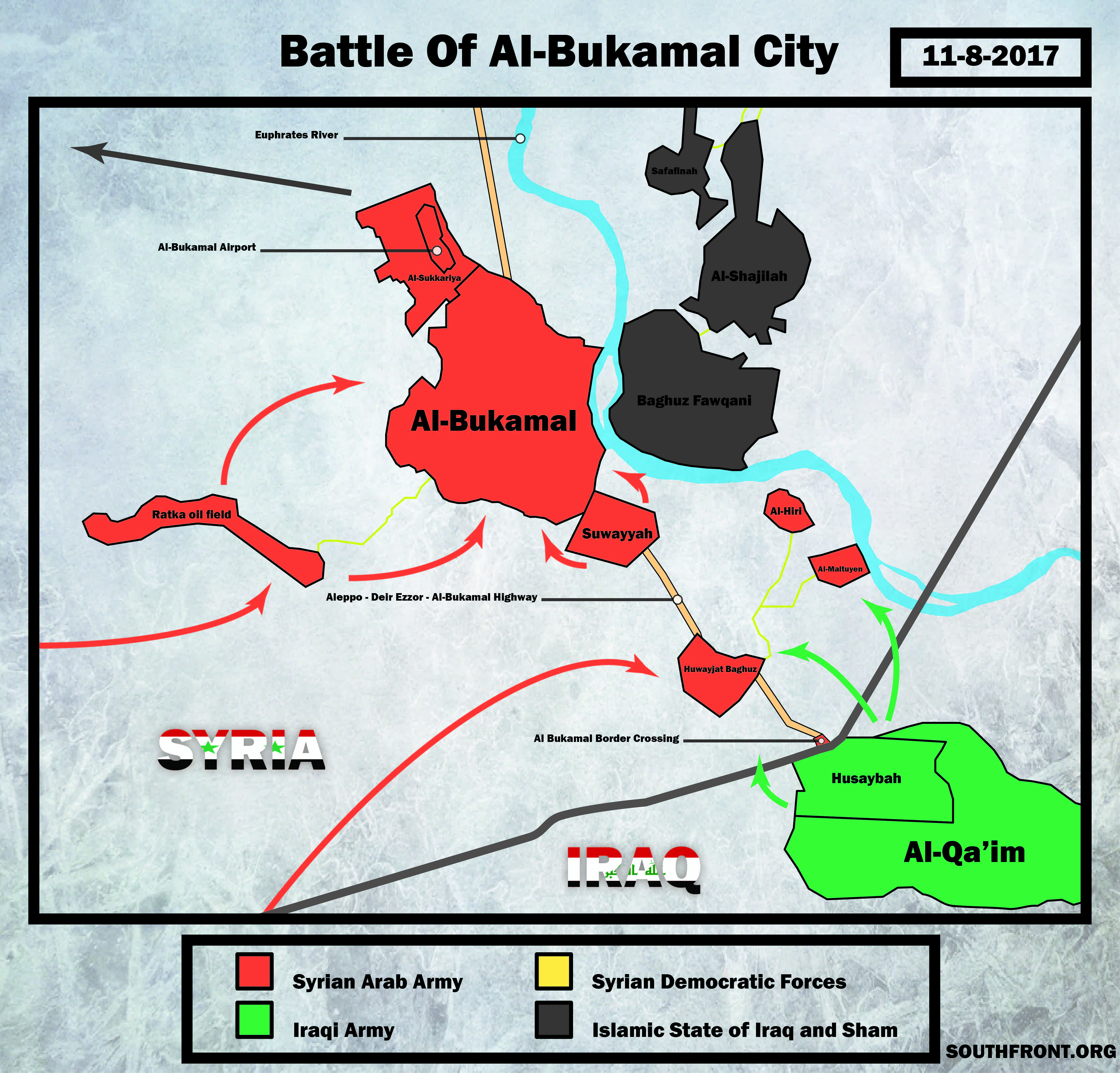 Overview: Syrian Army Operation To Liberate Strategic City Of Al-Bukamal
