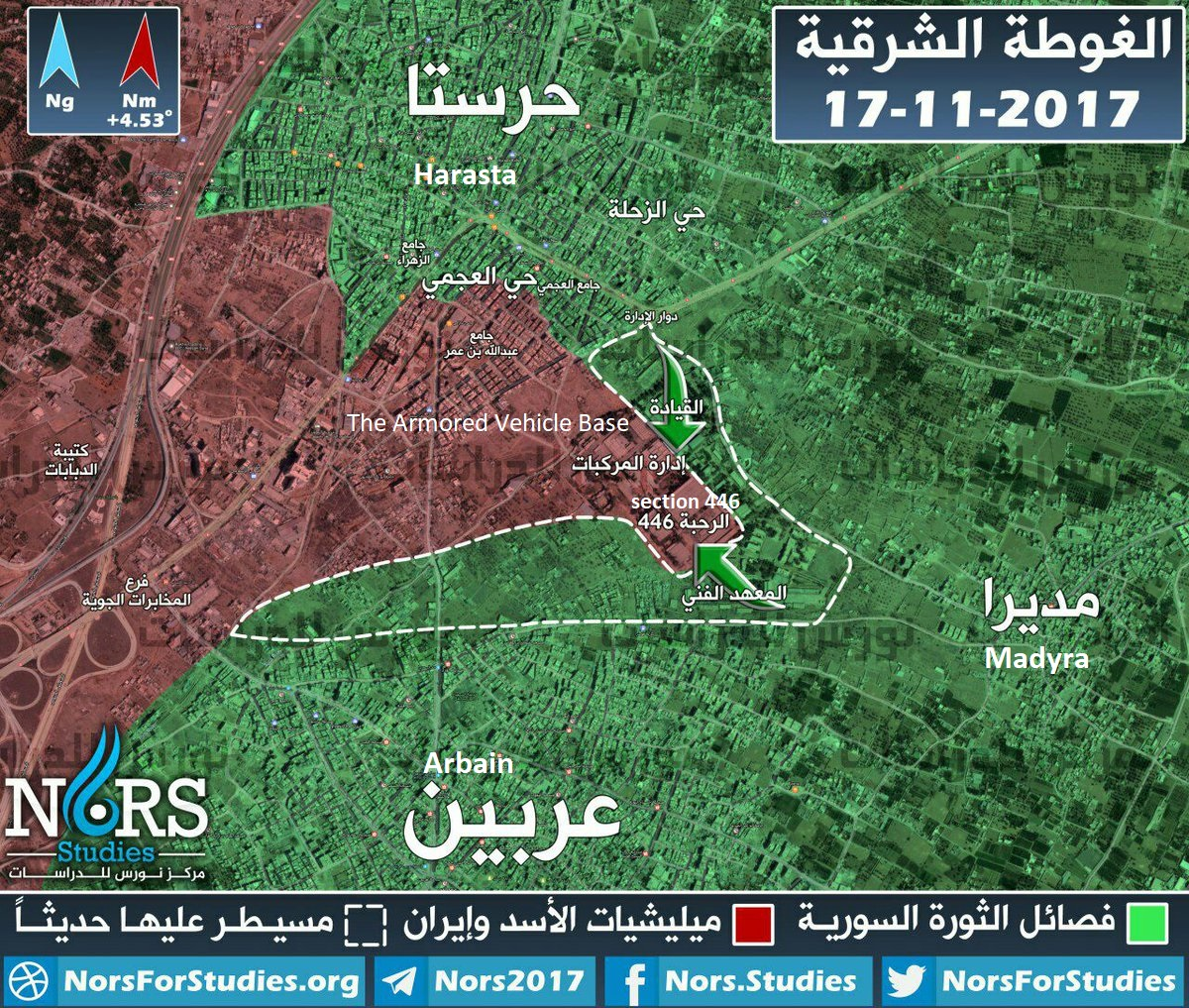 Government Troops Launch Counter Attack In Syria's Eastern Ghouta (Map)