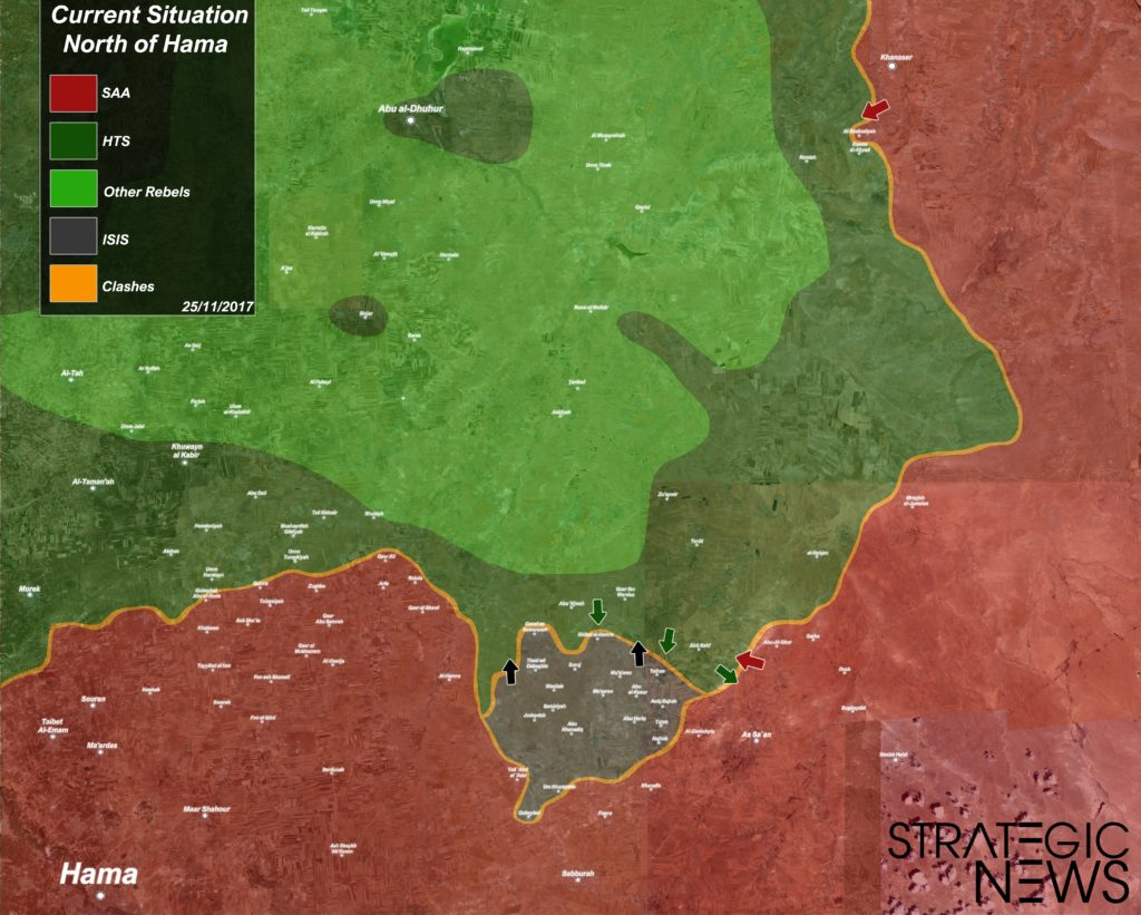Map Update: Military Situation In Northern Hama And Southern Aleppo