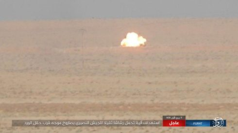 ISIS Destroyed 6 Vehicles of Syrian Army With Anti-Tank Guided Missiles (Photos)