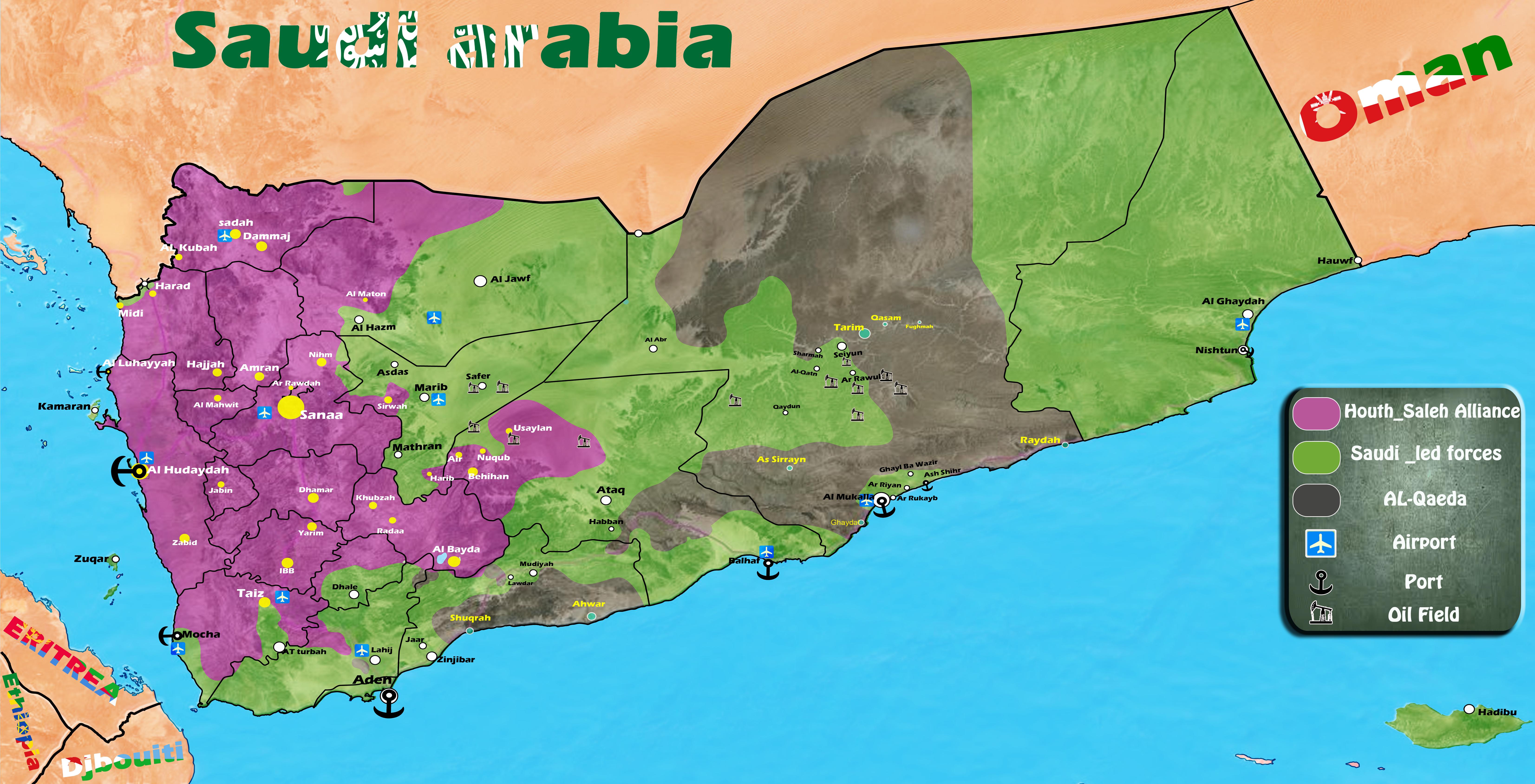 Led Coalition To Reopen Hodeidah Port And Sanaa Airport In Yemen - Sanaa map