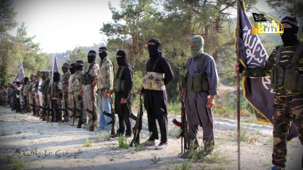 Mysterious Aircrat Bomb Turkistan Islamic Party In Northern Idlib