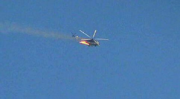Militants Shot Down Syrian Air Force Helicopter Near Beit Jinn (Photo, Video)