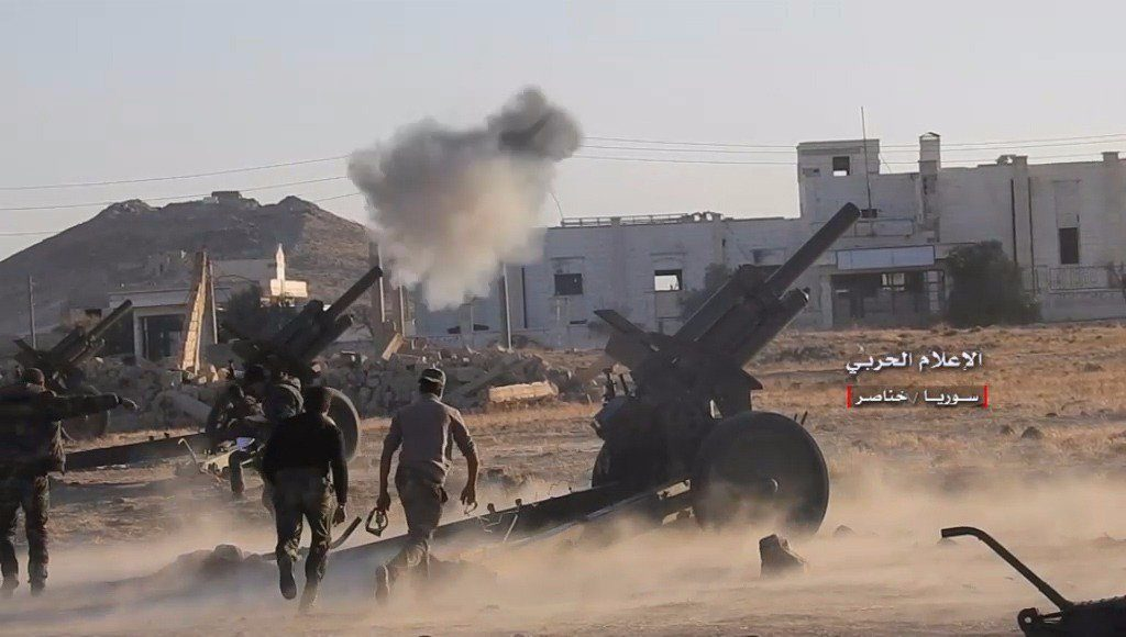 In Photos And Video: Syrian Army Pounding Militant Positions In Southern Aleppo