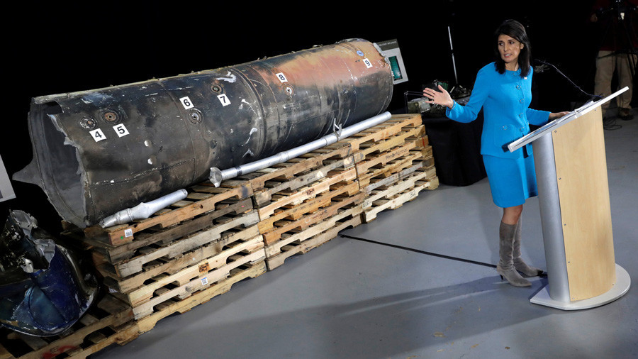 Colin Powell 2.0: US Ambassador To UN Presents 'Evidence' Of Iran's Missile Fired At Saudi Arabia From Yemen