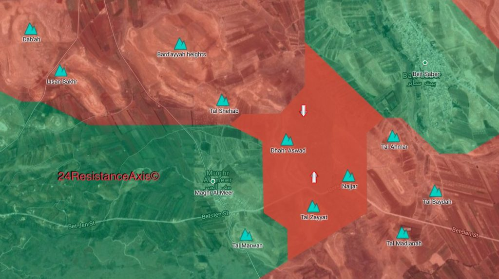 Map Update: Military Situation In Beit Jitt Pocket Following Recent Syrian Army Advances