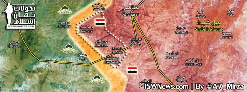 Map Update: Military Situation West Of Khanasir After Recent Advances Of Government Forces