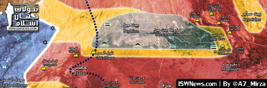 Military Situation In Beit Jinn Pocket In Southern Syria (Map Update)