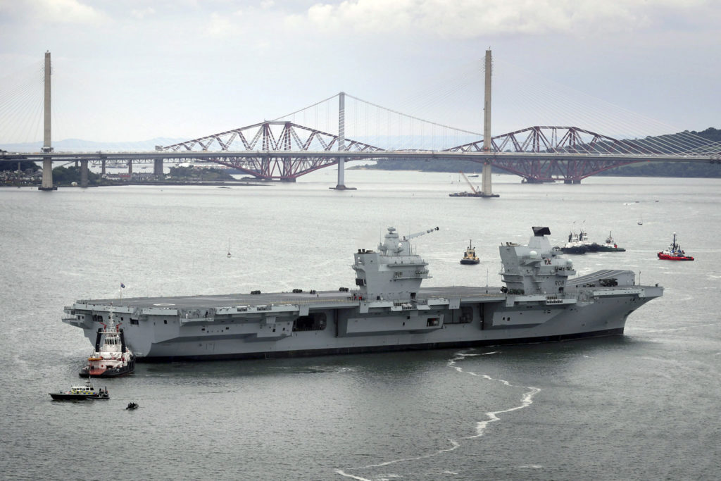 UK's Brand New Aircraft Carrier Springs Leak Two Weeks After Launch