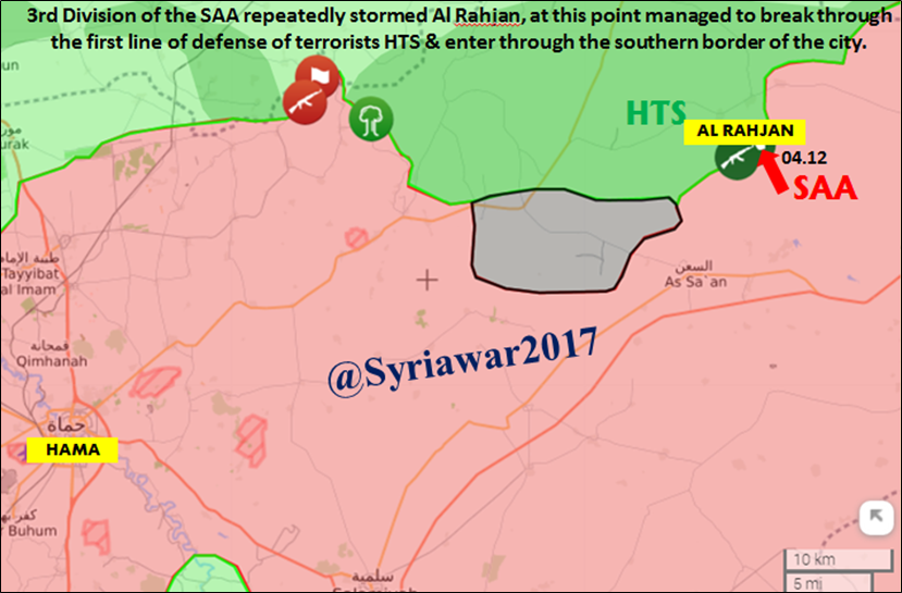 Hayat Tahrir al-Sham Attacks Syrian Army Near Khanasser Highway. Government Troops Advance On Rahjan (Maps)