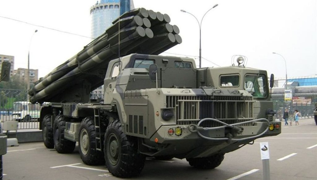 Russia Battle Tested Cutting-Edge Tornado-S Multiple Rocket Launcher System In Syria