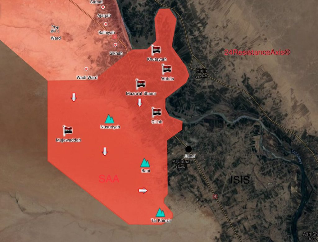 Tiger Forces Continue Rapid Avdance, Liberate 5 Villages And 3 High Points From ISIS (Map)