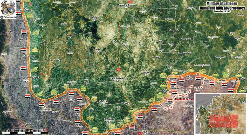 Military Situatuation In Southern Idlib Following Liberation Of Abu Dali (Map Update)
