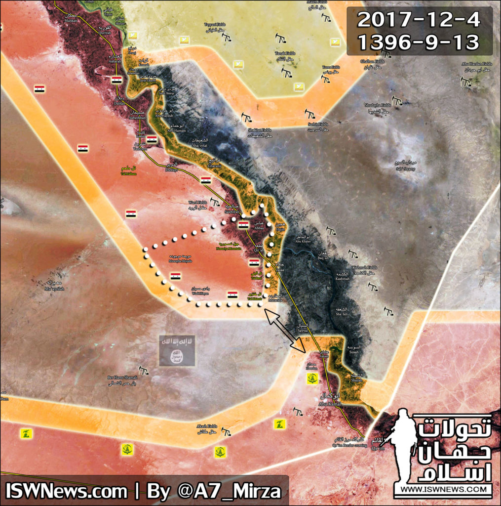 Map Update: Progress Of Tiger Forces' Advance Towards Syria's Al-Bukamal