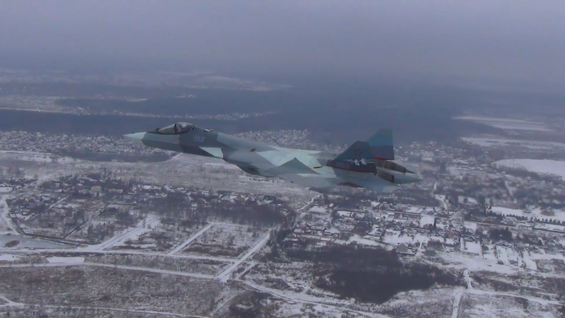 Russian Su-57 5th Gen Fighter Jet Flies With Production-Standard Engine For First Time (Video)