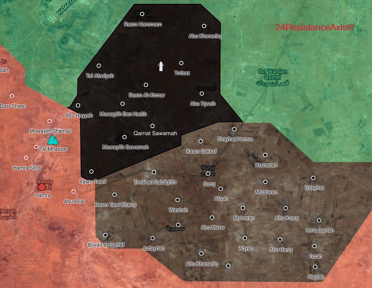 Breaks Through Hayat Tahrir alSham Defense In Northeastern Hama Map