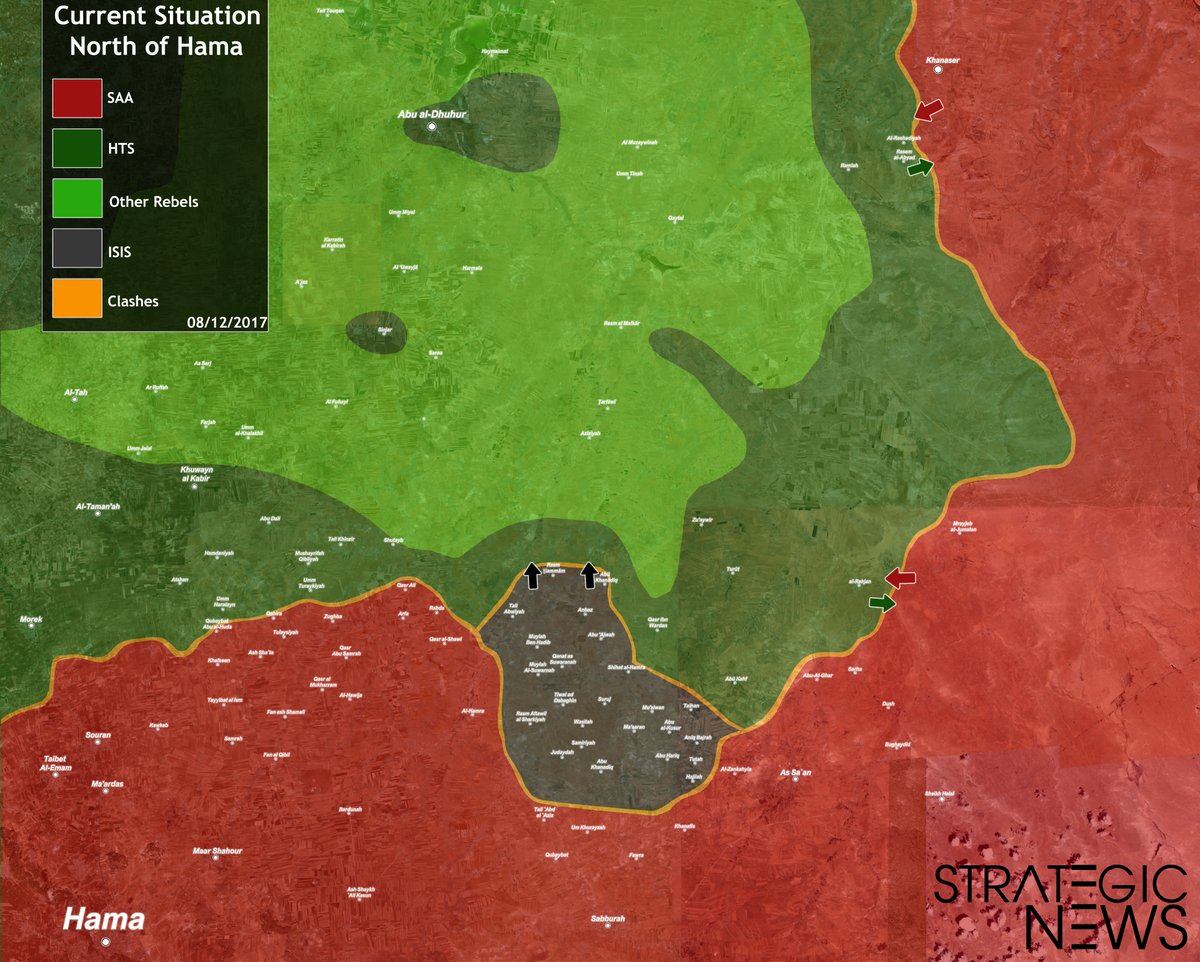ISIS Expands Its Control In Syria\'s Northeastern Hama - Map Update