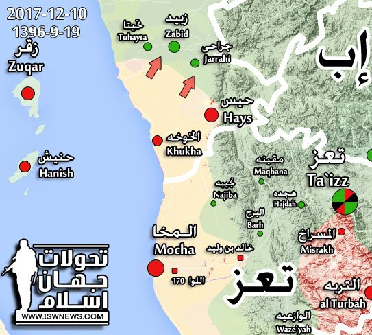 Saudi-led Coalition Captures Another Important District In Western Yemen (Map)