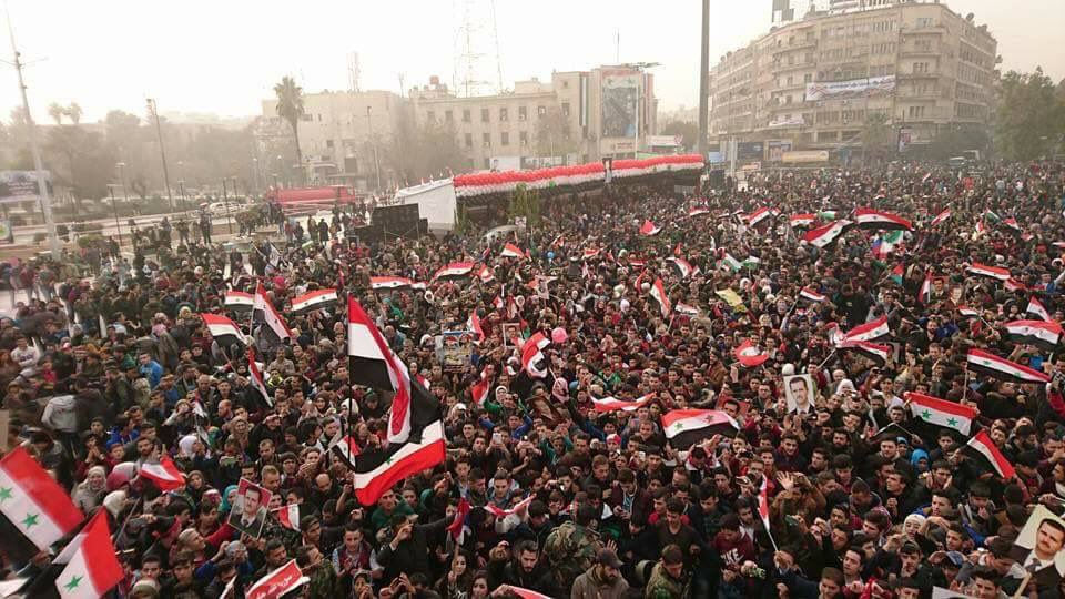 Syrians Marked Anniversary Of Aleppo Liberattion With Large Rally (Photos)