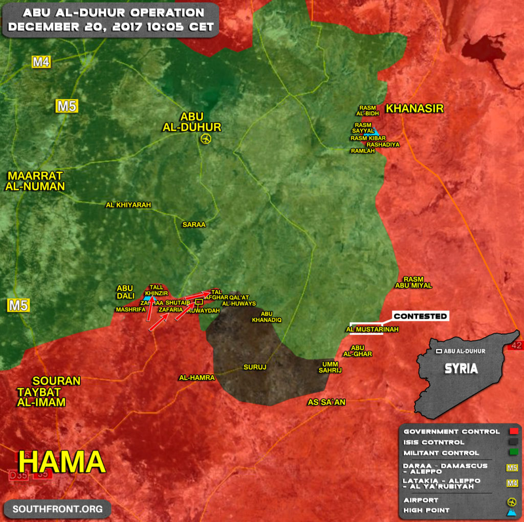 Map Update: Government Forces Advance In Southern idlib