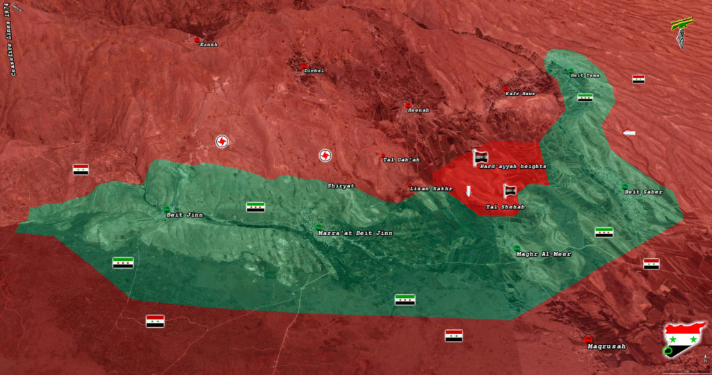 Syrian Troops Establish Fire Control Over Important Militant Supply Line In Beit Jinn Pocket (Map)