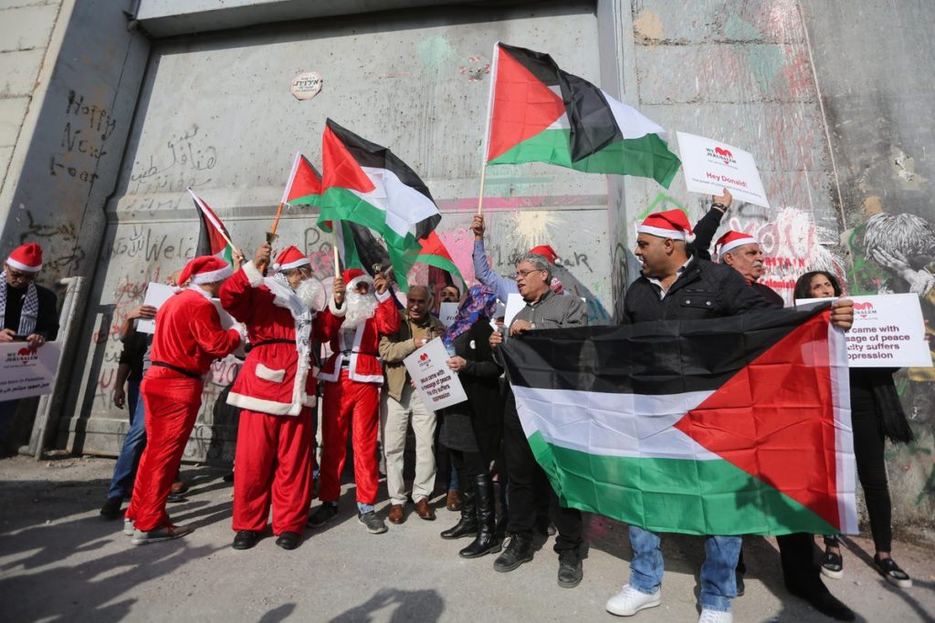 In Photos: Israeli Forces Clash With Palestinian Santa Clauses On Christmas Eve