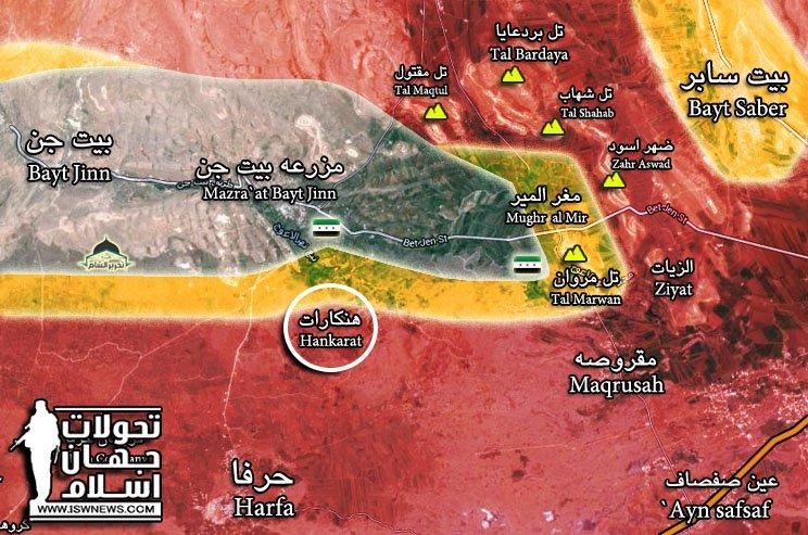 Syrian Army Tightens Nose To Hayat Tahrir al-Sham Stronghold Of Beit Jinn (Map)