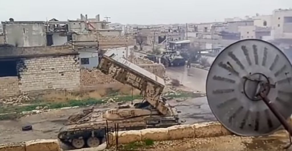 Video: Russian TOS-1A Heavy Flamethrower System Pounds Militant Positions In Northern Hama
