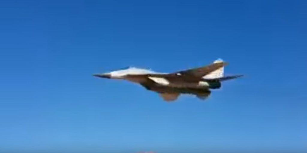 Video: MiG-29 Salutes Syrian Soldiers In Low-Altitude Flyover