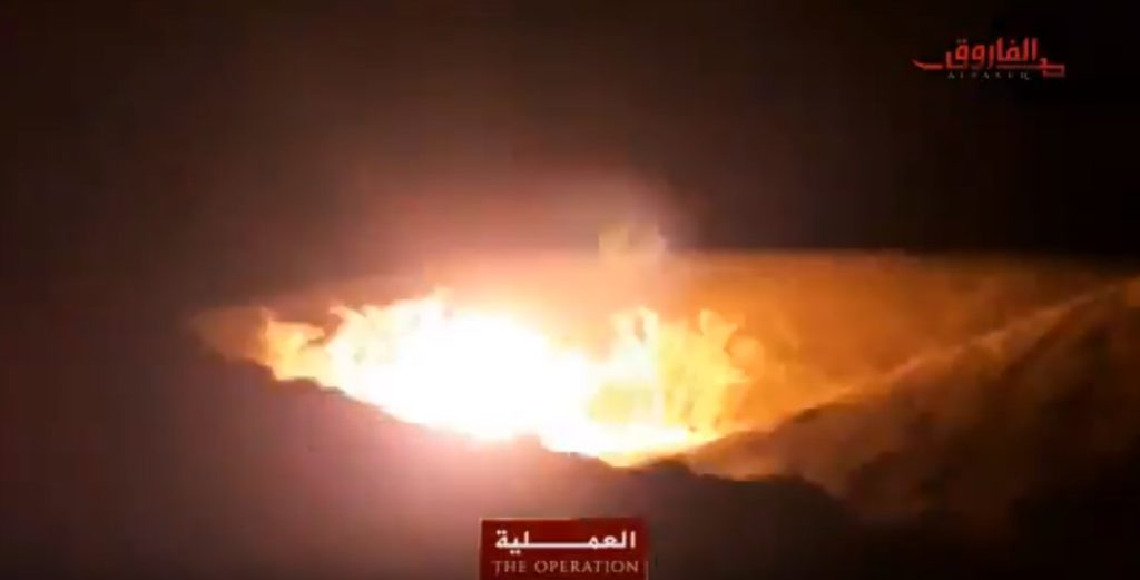 Video: Terrorists Reportedly Blow Up Oil Pipeline In Iran Amid Protests